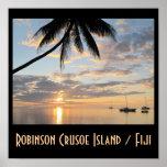 Puesta del sol de la isla de Robinson Crusoe Poster
