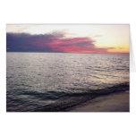Puesta del sol de la isla de Sanibel Felicitacion