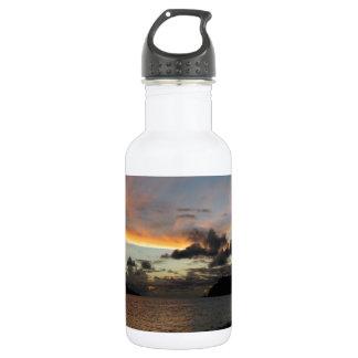 Puesta del sol de la isla de Seychelle