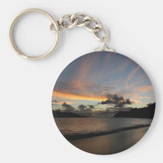 Puesta del sol de la isla de Seychelle Llaveros Personalizados