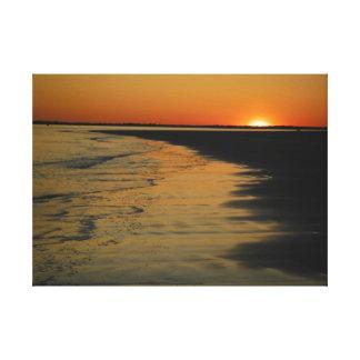 Puesta del sol de la isla de Sullivan, Carolina de Impresión En Lienzo