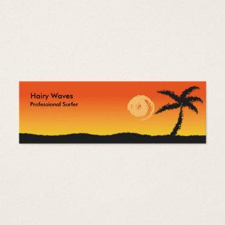Puesta del sol de la isla tarjetas de visita mini