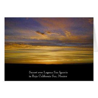 Puesta del sol de la laguna de San Ignacio Tarjeta De Felicitación