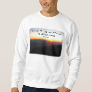 Puesta del sol de la montaña cita asteroide/de sudadera