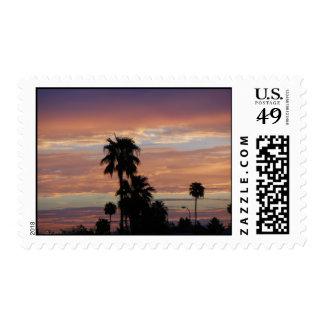 Puesta del sol de la monzón de Arizona Timbre Postal