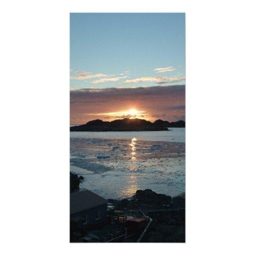 Puesta del sol de la opinión de Palmer Tarjeta Con Foto Personalizada