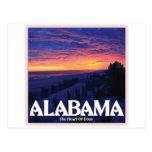 Puesta del sol de la oscuridad de Alabama Postal