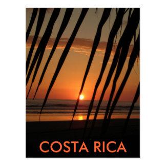 Puesta del sol de la palma COSTA RICA Postal