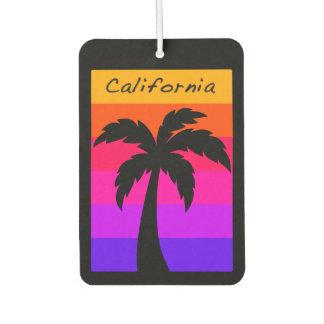 Puesta del sol de la palmera de California del