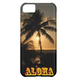 Puesta del sol de la palmera funda para iPhone 5C