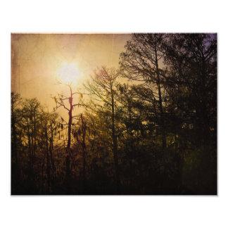 Puesta del sol de la parroquia de St Charles Impresiones Fotográficas