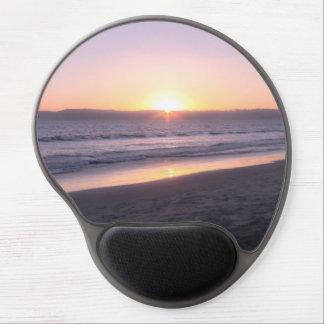 Puesta del sol de la playa alfombrilla de ratón con gel