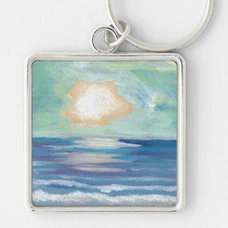 Puesta del sol de la playa - arte del océano de Cr Llavero