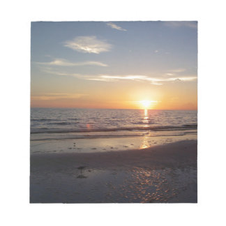 Puesta del sol de la playa bloc