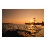 Puesta del sol de la playa - Coney Island - Brookl Arte Con Fotos