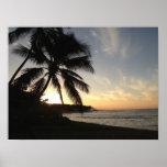Puesta del sol de la playa de Ali'i Impresiones