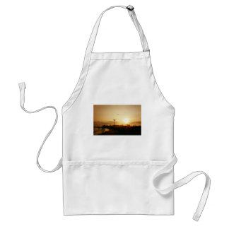 Puesta del sol de la playa de Coney Island Delantales