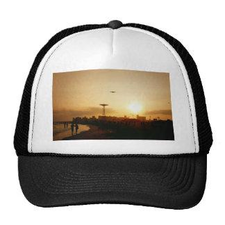 Puesta del sol de la playa de Coney Island Gorra