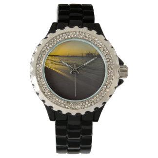 Puesta del sol de la playa de Dubai Reloj De Mano