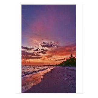 Puesta del sol de la playa de fuerte Myers Postales