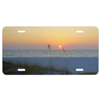 Puesta del sol de la playa de Holmes Placa De Matrícula