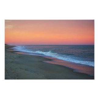 Puesta del sol de la playa de Kure Cojinete