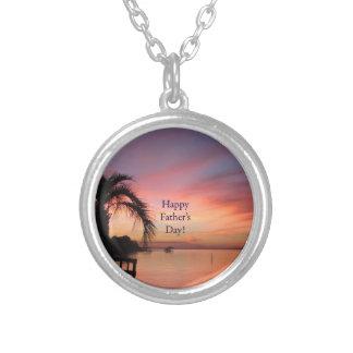 Puesta del sol de la playa de la Florida del día Colgante Redondo