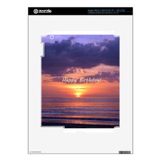 Puesta del sol de la playa de la Florida del feliz iPad 3 Pegatinas Skins