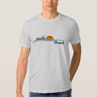 Puesta del sol de la playa de Malibu Playeras