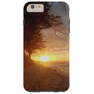 Puesta del sol de la playa de Mokuleia Funda Para iPhone 6 Plus Tough