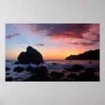 Puesta del sol de la playa de Muir Posters