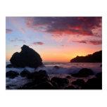 Puesta del sol de la playa de Muir Tarjetas Postales