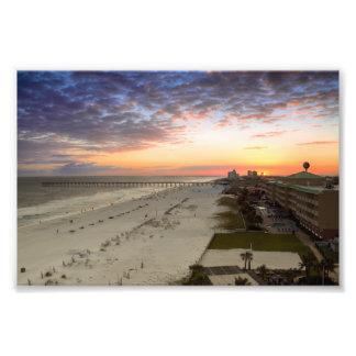 Puesta del sol de la playa de Pensacola Impresión Fotográfica