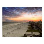 Puesta del sol de la playa de Pensacola Postal