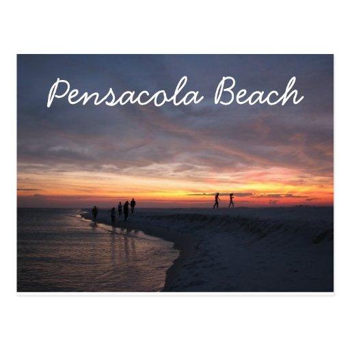 Puesta del sol de la playa de Pensacola Tarjeta Postal
