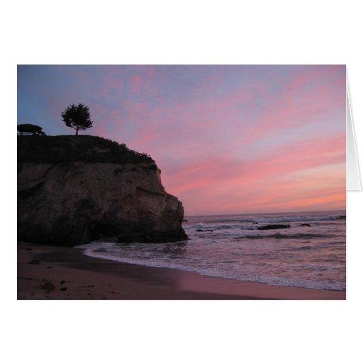 Puesta del sol de la playa de Pismo Tarjeta De Felicitación