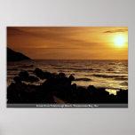 Puesta del sol de la playa de Putsborough, bahía d Impresiones