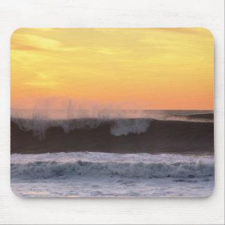 Puesta del sol de la playa de Rockaway Tapetes De Ratón