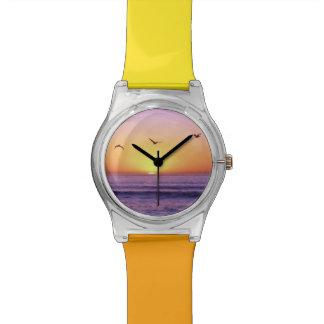 Puesta del sol de la playa de San Diego Relojes De Mano
