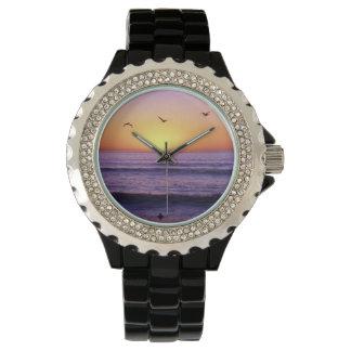 Puesta del sol de la playa de San Diego Relojes