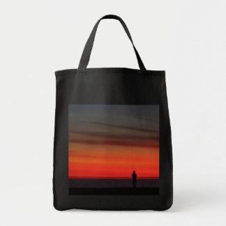 Puesta del sol de la playa de Venecia Bolsa Tela Para La Compra