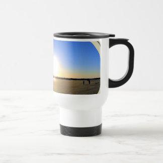 Puesta del sol de la playa de Venecia Taza De Café