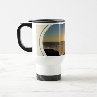 Puesta del sol de la playa de Venecia Tazas De Café