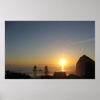 Puesta del sol de la playa del cañón impresiones