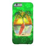 Puesta del sol de la playa del navidad funda de iPhone 6 barely there
