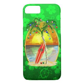 Puesta del sol de la playa del navidad funda iPhone 7