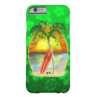 Puesta del sol de la playa del navidad funda para iPhone 6 barely there