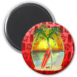 Puesta del sol de la playa del navidad iman