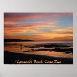 Puesta del sol de la playa del tamarindo, Costa Ri Poster