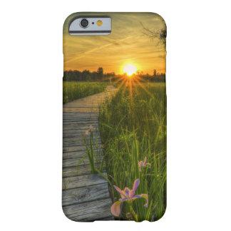 Puesta del sol de la pradera funda de iPhone 6 barely there